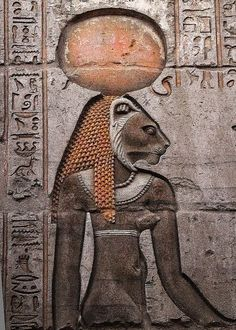 """djinn-gallery: Goddess Sekhmet, from the wall of. - djinn-gallery: """"Goddess Sekhmet, from the wall of Kom Ombo, Egypt """" Ancient Aliens, Ancient Egyptian Art, Ancient History, Ancient Mysteries, Ancient Artifacts, Empire Romain, Egypt Art, Egyptian Goddess, Ancient Civilizations"""