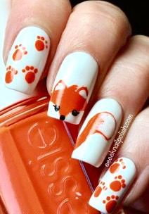 Animal fingernail art