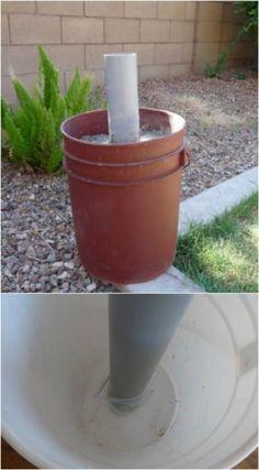Five Gallon Bucket, 5 Gallon Buckets, Concrete Projects, Backyard Projects, Outdoor Projects, Outdoor Ideas, Compost Tea Brewer, Tomato Planter, Bucket Gardening