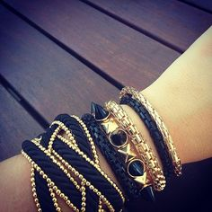 Black n Gold Wrist Candy ☺