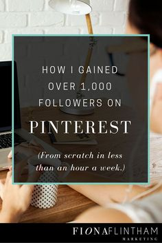 How to gain 1000 followers on Pinterest in under an hour a week completely from scratch. Use this proven Pinterest system & powerful online tool to gain over 1000 followers quickly.