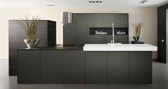 Looking for a new kitchen? Keller makes beautiful kitchens attainable. From modern to classical, from countryside to industrial kitchens. Kitchen Inspirations, Decor, Lighted Bathroom Mirror, Home Kitchens, Dark Kitchen, Home, Interior, Kitchen Design, Home Decor