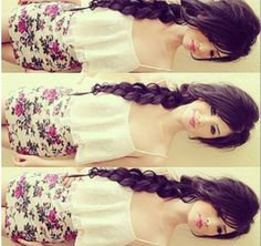 In love with her hair!!! Jealous!