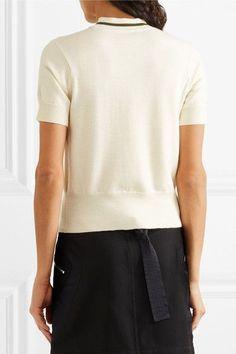 Tim Coppens - Striped Wool Sweater - Cream -