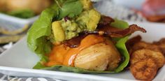 Loaded Citrus Marinated Chicken Lettuce Wraps with Chipotle Mayo, Bacon, and Pineapple Guac