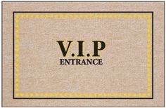 """V.I.P. Entrance Doormat by High Cotton Inc.. $19.99. Practical and useful. Great gift.. Perfect bound stitched edges.. Easy care; wash with hose and a brush. Dry flat.. Doormat is 18"""" x 27"""". Doormat: V.I.P. Entrance doormat - Humorous, durable doormat. A great way to welcome guests. Manufactured in USA."""