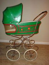 BEAUTIFUL VINTAGE BABY / DOLL BUGGY STROLLER PRAM FOR THAT SPECIAL DOLL 1940S ?