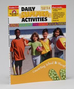 Take a look at this Daily Summer Activities Paperback - Prep for Fourth Grade by Evan-Moor Educational Publishers on #zulily today!