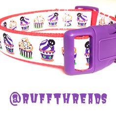 Halloween cupcakes large dog collar  ready to by ruffthreadsAZ