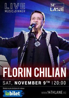 """Pe 9 noiembrie, Florin Chilian va asteapta la 14thLane, incepand cu ora 20:00 la un spectacol ca desprins din basme. Cu siguranta ai fredonat piesa """"Zece"""" sau """"Chiar daca"""" nu acum ai ocazia sa o faci.   *Consumatia nu este inclusa in pretul biletului.  * Nu exista locuri in picioare  *Pentru acest eveniment, rezervările se preiau doar după achiziționarea biletelor. RSVP: 0727 677 777"""