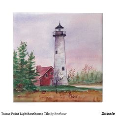 Tawas Point Lighthouthouse Tile http://www.zazzle.com/tawas_point_lighthouthouse_tile-227208079238564591