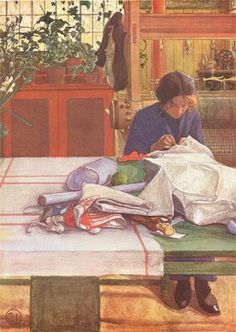 Reminds me of you, Lou! Anna S by Carl Larsson