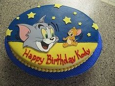 Inspired Image of Tom And Jerry Birthday Cake Tom And Jerry Birthday Cake Tom Birthday Cakes Bolo Tom E Jerry, Tom And Jerry Cake, 8th Birthday, Birthday Cakes, Birthday Parties, Birthday Ideas, Tom And Jerry Kids, Jerry's Kids, Monster Inc Party