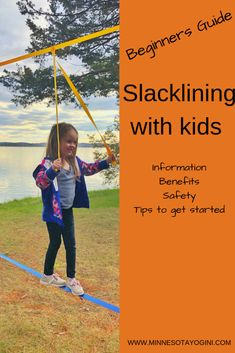 Minnesota Yogini - Beginners Guide to Slacklining with Kids - Minnesota Yogini Water Games For Kids, Outdoor Activities For Kids, Outdoor Learning, Outdoor Games, Family Activities, Backyard For Kids, Backyard Games, Kids Yard, Kids Play Area