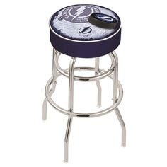 Tampa Bay Lightning NHL D2 Retro Chrome Bar Stool. Available in 25-inch and 30-inch seat heights. Visit SportsFansPlus.com for details.