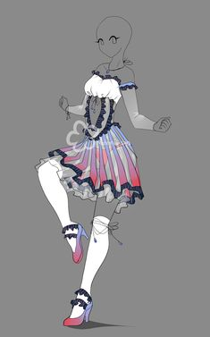 Dress Design Auction - closed by Nahemii-san.deviantart.com on @deviantART