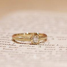 ゴールドの婚約指輪(オーダーメイド/手作り) [gold,engagement,diamond,wedding,ring,エンゲージリング,ウエディング,イズマリッジ]