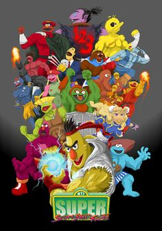 Super Sesame Street Fighter!