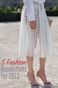 5 fashion resolutions for 2013