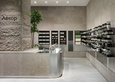 Volcanic Beauty Shop Interiors - The New Aesop Shop is Inspired by Japan's Mountainous Landscape (GALLERY)