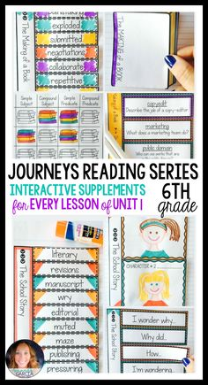 Sixth grade students LOVE these FUN interactive notebook supplements and printable worksheets! This unit is aligned to the Journeys reading series, Unit 1, for 6th grade. Stories include: The School Story, Knots in My Yo-yo String, The Making of a Book, The ACES Phone, and The Myers Family.