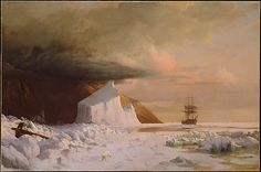 William Bradford (American, 1823–1892). An Arctic Summer: Boring Through the Pack in Melville Bay, 1871. The Met New York.