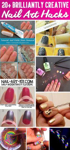 20  Brilliantly Creative Nail Art Hacks That Are Pure Genius