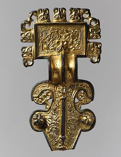 Square-Headed Brooch [Anglo-Saxon] (1985.209) | Heilbrunn Timeline of Art History | The Metropolitan Museum of Art