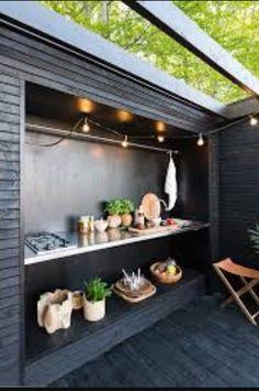 Terrace Garden, Garden Pool, Diy Outdoor Kitchen, Outdoor Decor, Pergola, Casa Patio, Summer Kitchen, House Extensions, Outdoor Areas