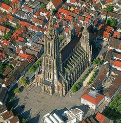 The Münster - Ulm, Germany - building began in the 1300s but was not completed until the 19th century - has the tallest steeple in the world.