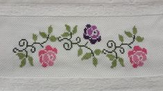 This Pin was discovered by Gül Beaded Cross Stitch, Cross Stitch Borders, Cross Stitch Flowers, Cross Stitch Charts, Cross Stitch Designs, Cross Stitching, Cross Stitch Embroidery, Cross Stitch Patterns, Custom Embroidery