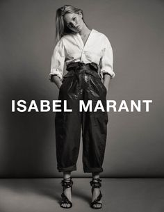 Isabel Marant features blouse and high-waist trousers in spring 2017 ad campaign