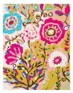This is a fabulous artist.  I can totally see her as a fabric designer.  Would love to have this on a bedspread!