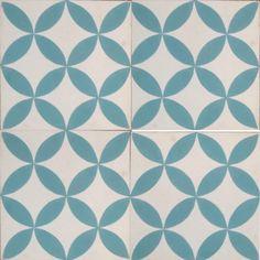 Petals Laguna Encaustic Tile
