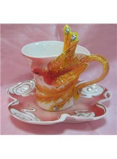 New Arrival Porcelain Gorgeous Phoenix Coffee Cup