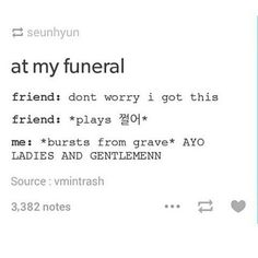 Rising from the grave like...쩔어   BTS