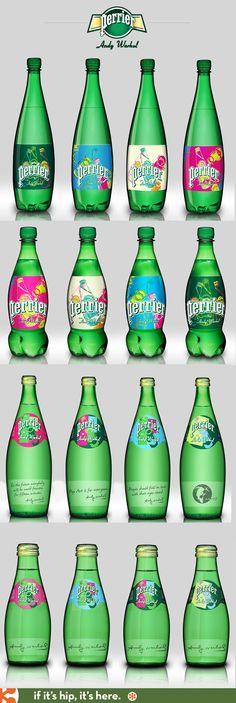 2013 Limited Edition Andy Warhol Perrier Bottles