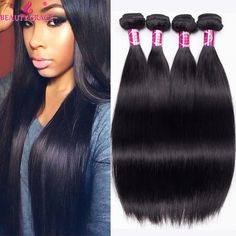 Brazilian Straight Hair 4 Bundles 8a Brazilian Virgin Hair Weave Bundles Beauty Grace Straight Virgin Hair Products >>> To view further for this item, visit the image link.