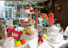 Chesterfield Hotel - Mayfair This luxury hotel has created a fantastic Charlie and The Chesterfield Hotel Mayfair London Afternoon Tea. .... ♥♥ .... It includes a golden egg, a chocolate Wonka bar, and a golden ticket.