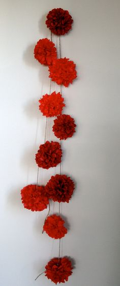 Dear Scarlett ... diy tissue paper pom garland // by PomLove