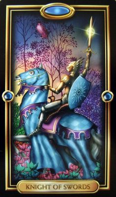 Gilded Tarot Created by Ciro Marchetti ~ Knight of Swords