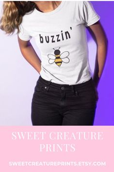 This cute bee shirt is perfect as gift for anyone who loves bees. Click through to view more cute styles. #bees #shirt
