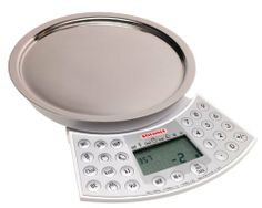 Soehnle Food Control Digital Scale by Soehnle. $44.99. Weighs in imperial (pounds/ounces) or metric (grams/kilograms) systems. 4-pound, 6-ounce or 2-kilogram weight limit. Volume key for weighing liquids;. Calculates, stores, and recalls nutritional value, energy value, and density of 425 foods. Longlife lithium battery included; 3-year guarantee. Amazon.com                This German company has been making scales since 1868 and has a great deal of expertise behind the product...