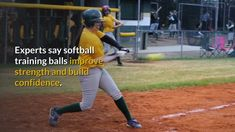 Softball training balls are great for strength and confidence. Here's a quick primer on how to use these softball practice balls for practice. Softball Coach, Softball Players, Fastpitch Softball, Indoor Basketball Court, Softball Equipment, Muscle Memory, Confidence Building, Best Player