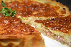 Bacon and onion quiche