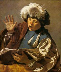 Singing Boy - Hendrick Terbrugghen, 1627