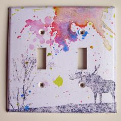 Moose decorative light switch cover.