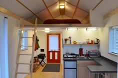 Kitchenette & Entrry - Homer's Downtown Tiny House