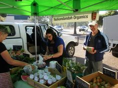 Yackandandah Organics at the Hume Murray Farmers Market.
