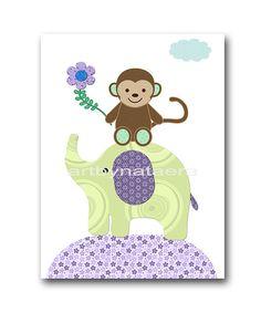 Baby Girl Nursery Art Print Nursery Print Kids Art by artbynataera